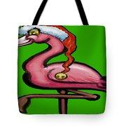 Flamingo Christmas Tote Bag