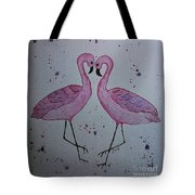 Flamingo Dance Tote Bag by Ginny Youngblood
