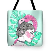 Flamingo Girl Tote Bag