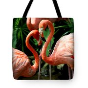 Flamingo Heart Tote Bag