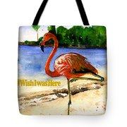 Flamingo In Florida Shirt Tote Bag