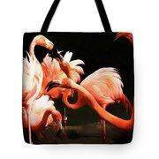 Flamingo Kisses Tote Bag