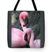 Flamingo Love Birds Tote Bag