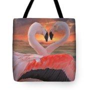 Flamingo Love Tote Bag