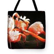 Flamingo Mingles Tote Bag