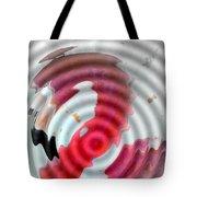 Flamingo On Ripple Water Tote Bag