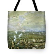 Flamingo Shooting In South America  Tote Bag