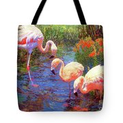 Flamingo Tangerine Dream Tote Bag