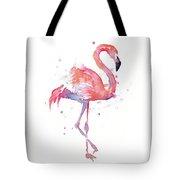 Flamingo Watercolor Facing Right Tote Bag
