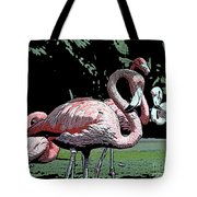 Flamingos I Tote Bag