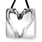 Flamingos In Love Tote Bag