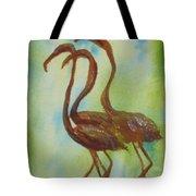 Flamingos In Vail Tote Bag