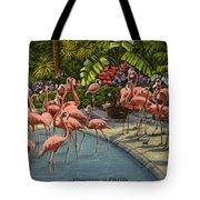 Flamingos Vintage Postcard Tote Bag