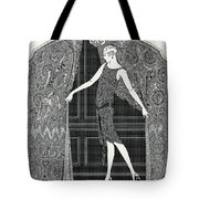 Flapper Opening A Curtain Tote Bag