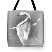 Flapping In Black And White Tote Bag