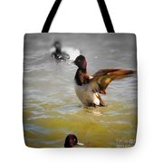 Flapping Lesser Scaup Tote Bag