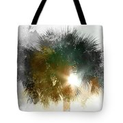 Flared Textured Palm Tote Bag