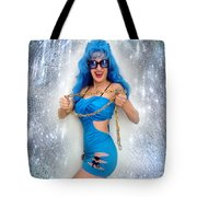Flashing. Dance With Gold Chain Tote Bag