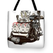 Flat Head V 8 Engine Tote Bag