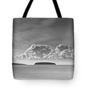 Flat Holm And Steep Holm Mono Tote Bag