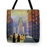 Flat Iron Building New York Tote Bag