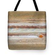Flat Map Of Jupiter Tote Bag