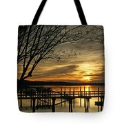 Flat Water Tote Bag