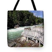 Flathead River Rapids Tote Bag
