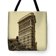 Flatiron Building In Sepia Tote Bag