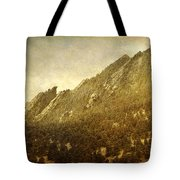 Flatiron Views  Boulder Colorado Tote Bag