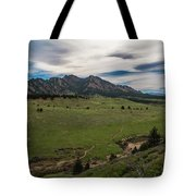 Flatirons From South Trails Tote Bag