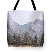 Flatirons From The South Boulder Colorado Tote Bag