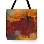 Fleeing The Inferno Tote Bag