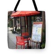Flemington, Nj - Sidewalk Cafe Tote Bag