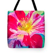 Fleurie Peppermint Rose High Key Tote Bag