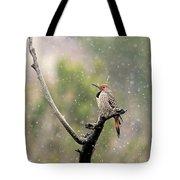 Flicker In The Rain Tote Bag