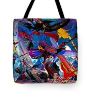 Flight Of A Huming Bird Tote Bag