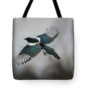Flight Of A Magpie Tote Bag