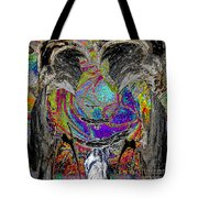 Flight Of Silver Eagles Tote Bag