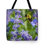 Flight Of The Bumble Bee Tote Bag