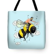 Flight Of The Bumblebee By Nicolai Rimsky Korsakov Tote Bag