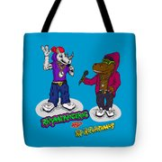 Flight Of The Conchords The Hiphopopotamus And The Rhymenoceros Together On The One Design Tote Bag