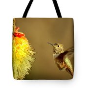 Flight Of The Hummer Tote Bag