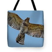 Flight Of The Red Shouldered Hawk Tote Bag