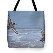 Flight Of The Sanderlings Tote Bag