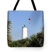Flight Over Egmont Key Tote Bag