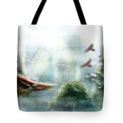 Flight Through The Mountains Tote Bag