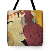 Flirt An Englishman At The Moulin Rouge 1892 Tote Bag