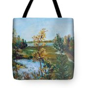 Fll At The Oyster River Tote Bag
