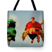 Floating Aerial Photographer And The Smiling Crab Tote Bag